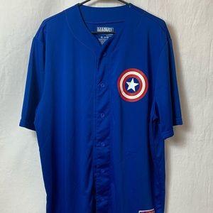 Captain America Jersey Men's XL 46/48 Marvel Shirt